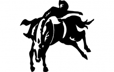 Rodeo Cowboy dxf File