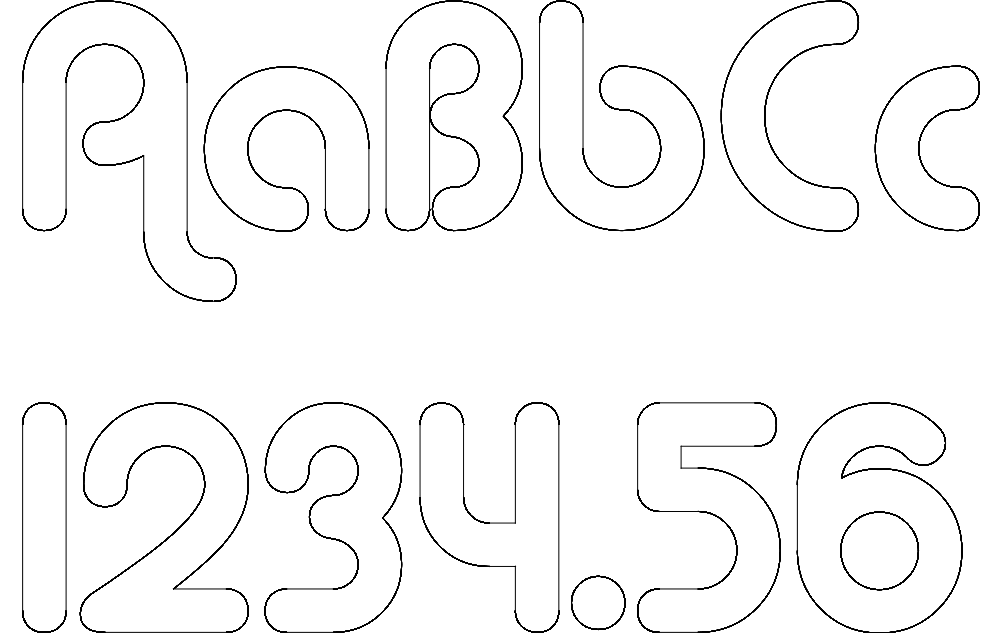 Letters and Numbers dxf File