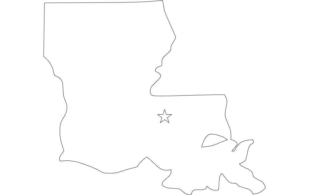 Louisiana dxf File