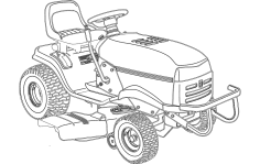 Lawn Mower Tractor dxf File