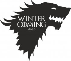 Game Of Thrones Stark Vector CDR File