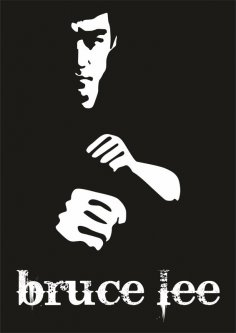 Bruce Lee Poster Vector Free Vector