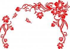 Floral Scrolls Vector Art Free Vector