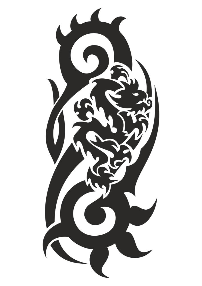 Dragon Black And White Vector