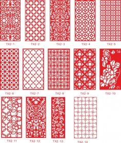 Ornamental Panel Jali Design Vectors Free Vector