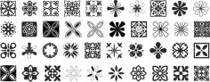 Decorative Ornaments Vector Pack Free Vector