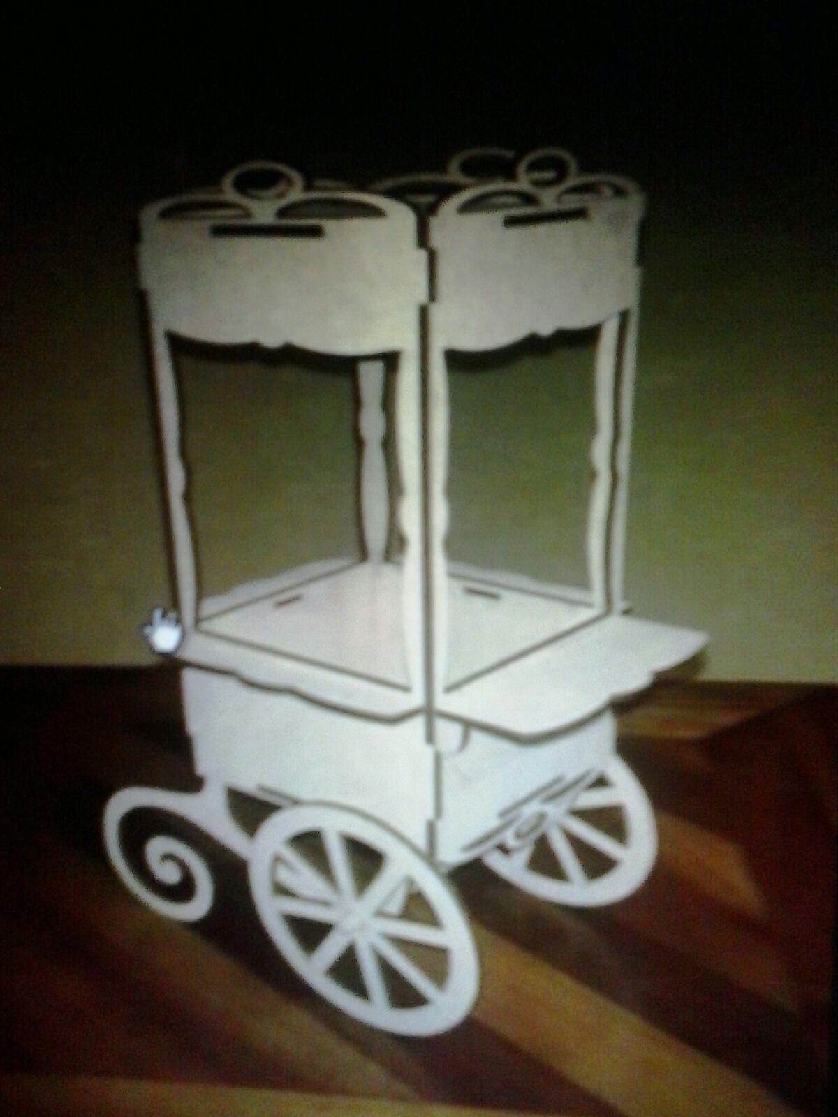 Candy Bar Cart CNC Plans Free Vector