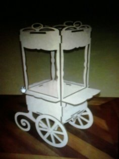 Candy Bar Cart CNC Plans CDR File