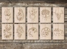 Laser Cutting Engraving Designs Free Vector