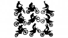 Motocross Vector Art CDR File