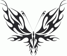 Tribal Butterfly Vector Art 31 DXF File