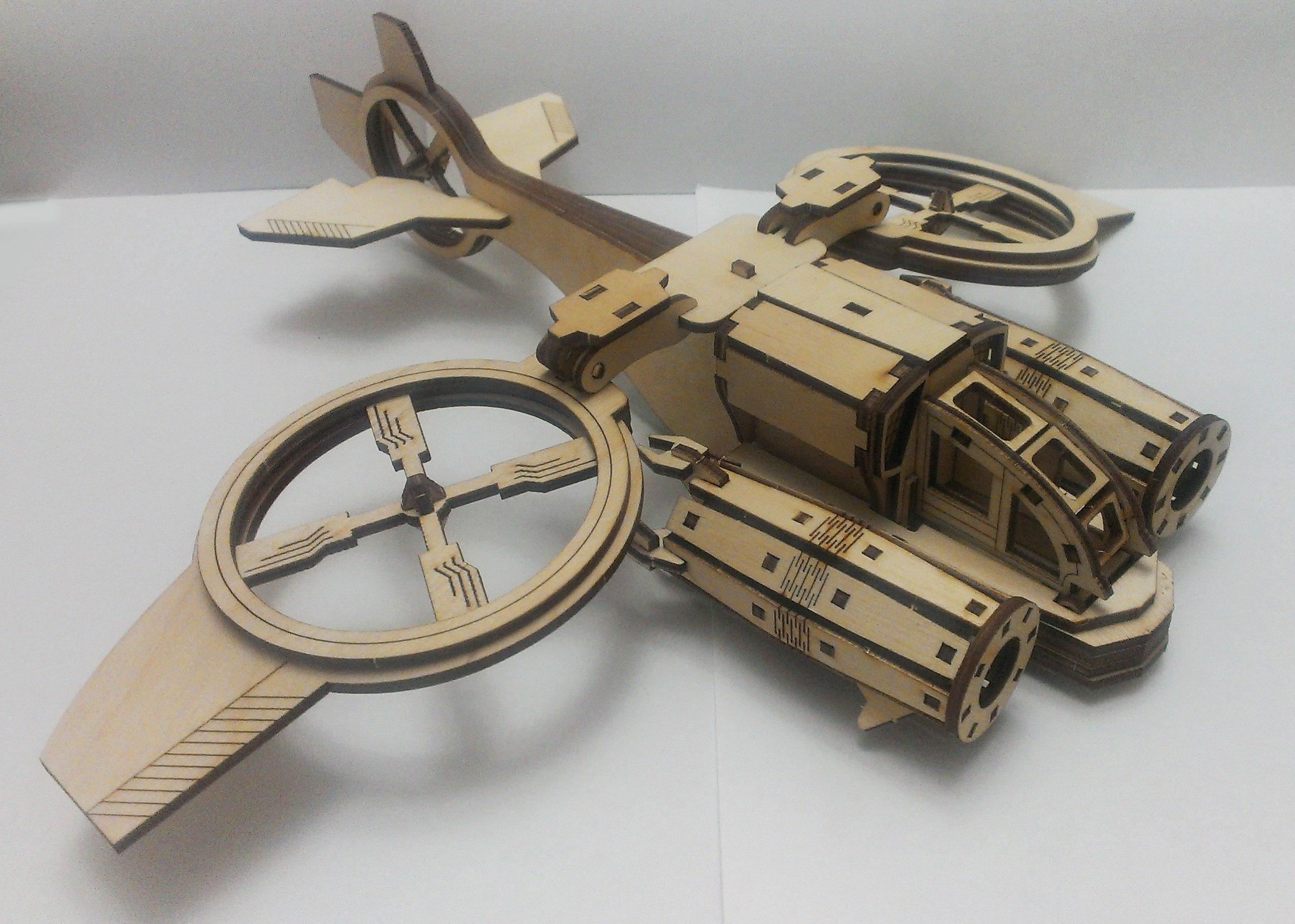Helicóptero Banshi Avatar Sa-2 Samson Similar. Mdf Laser Free Vector