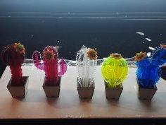 Mini Kaktusy 3d