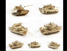 Tank 3d Wooden Puzzle Solution CDR File