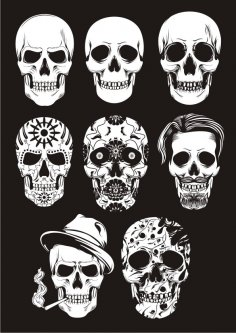 Mexican Skull Art Free Vector