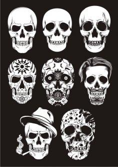 Mexican Skull Art Free Vector