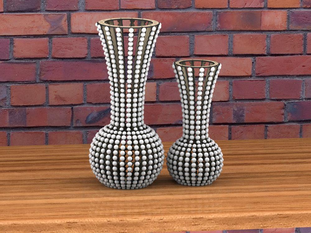 ArtCAM CNC Router Vectors 2D DXF Files Vase Decoration Woodworking DXF File