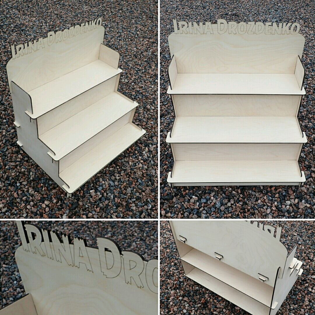 Decorative Stair Step Shelf Organizer 6 Mm CDR File