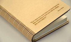 Lliving Hinge Book Cover Laser Cut
