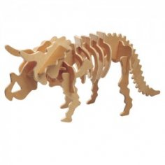 Triceratops 3D Puzzle DXF File