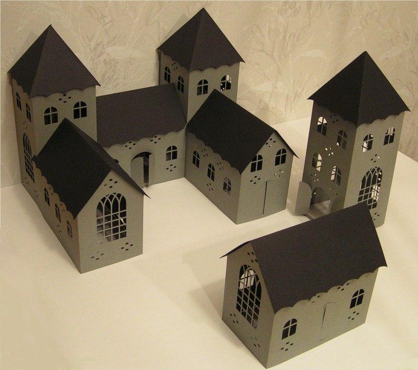 Laser Cut 3D Small Castle Free Vector