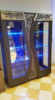 Laser Cut Decorative Wardrobe Doors Design DXF File