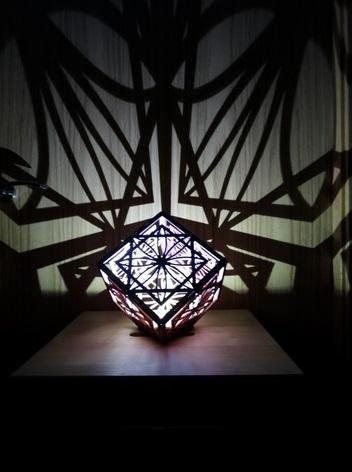 Laser Cut Cube Lamp Free Vector