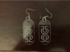 Laser Cut Earrings SVG File