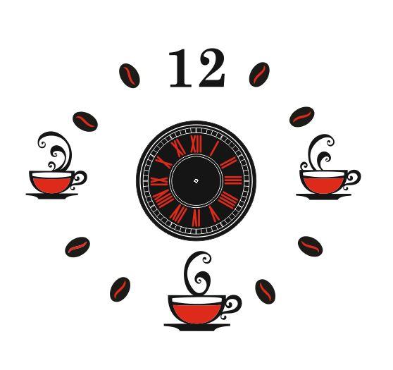 Laser Cut Coffee Clock Template Free Vector