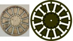 Laser Cut Round Clock Template DXF File