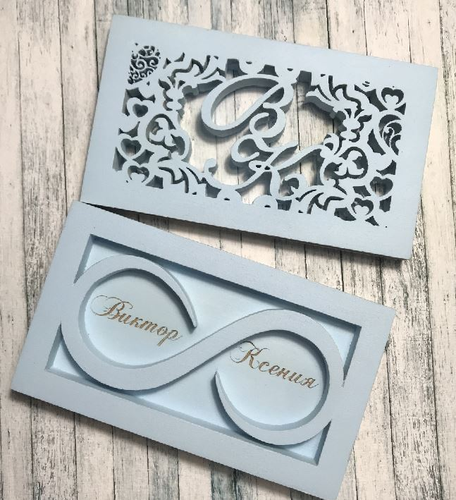 Laser Cut Wedding Box For Engagement Rings Free Vector