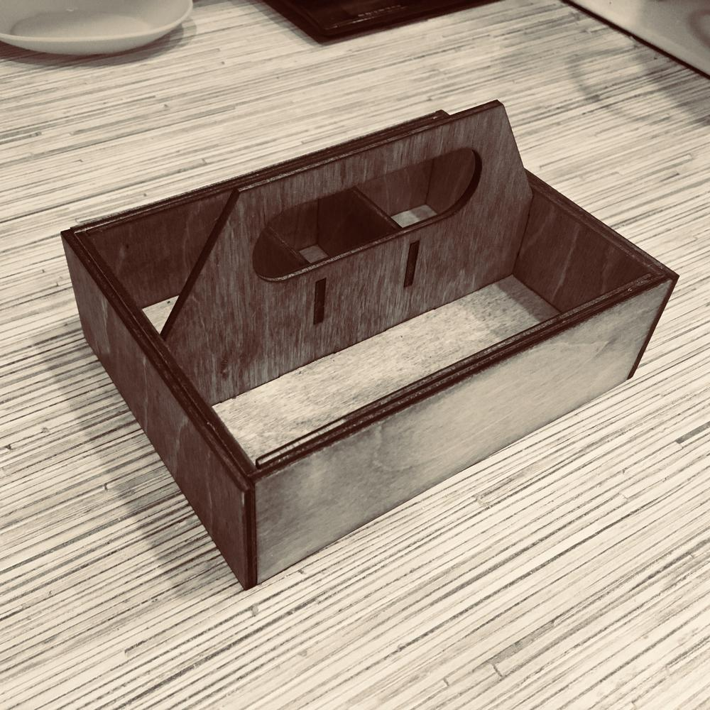 Laser Cut Napkin Holder with Handle Free Vector