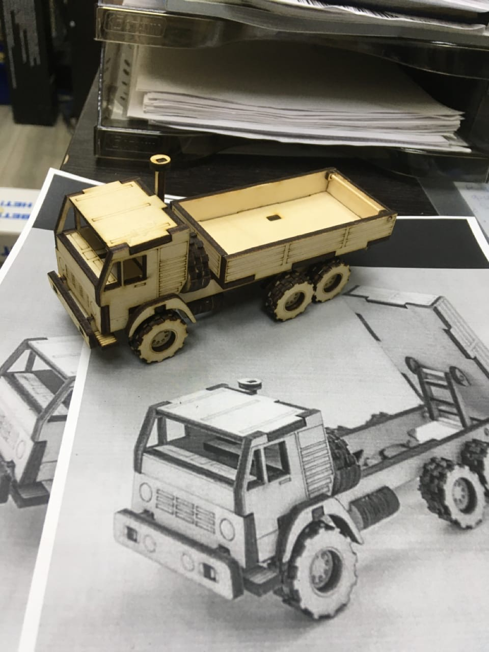 Laser Cut Toy Truck Template Free Vector