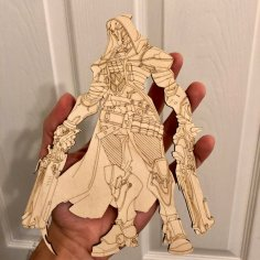 Laser Cut Overwatch Reaper Figma Action Figure Free Vector