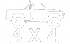 4X4P up dxf File
