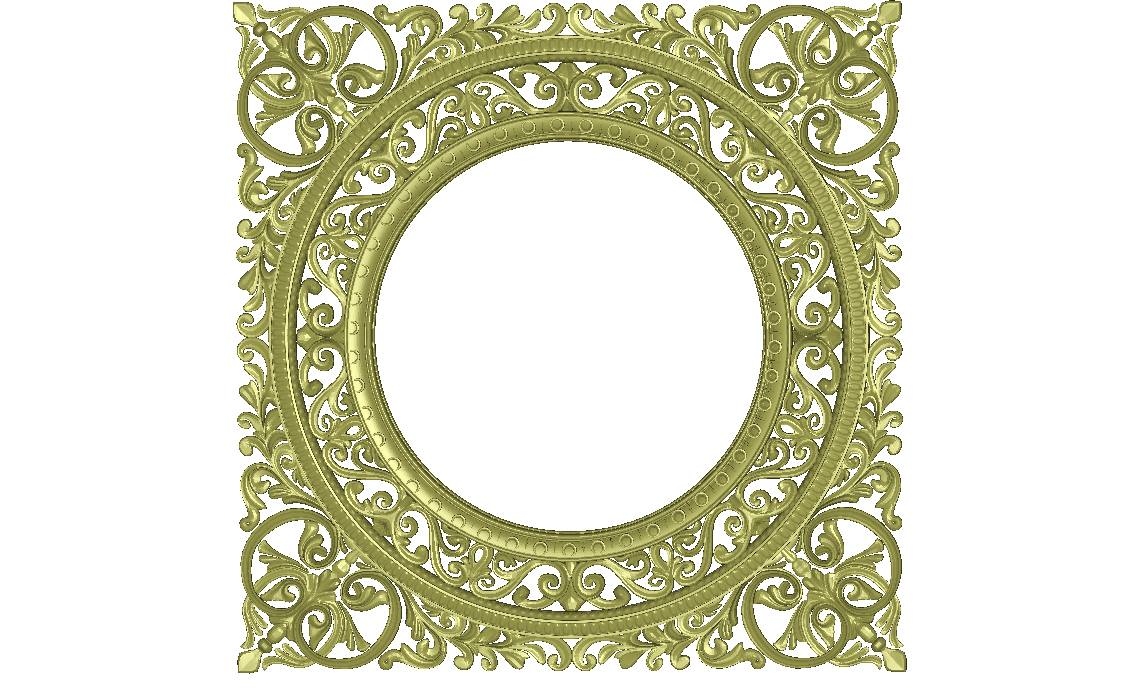 Round Mirror Frame 3D Model jdp File