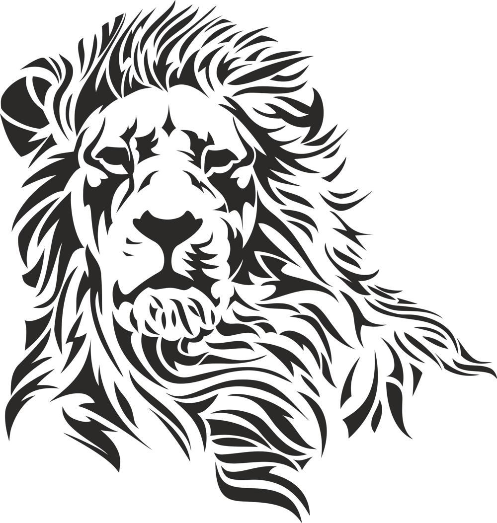 Lion Stencil Free Vector