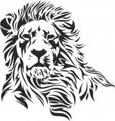 Lion Stencil EPS File