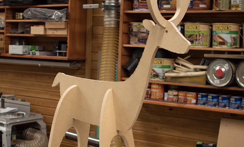 Christmas reindeer Rudolph Laser Cut CNC Router Plans SVG File