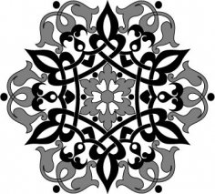 Arabic Arabesque Design Free Vector
