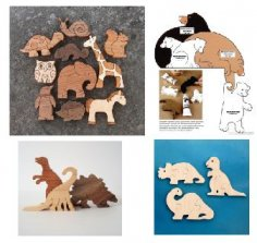 Laser Cut Jigsaw Puzzle Toys Free Vector