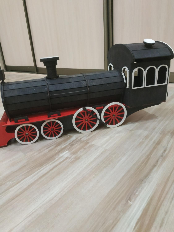 Laser Cut Wooden Train Locomotive Steam Engine 3mm SVG File
