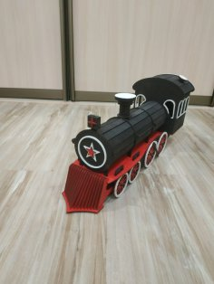 Laser Cut Wooden Train Locomotive Steam Engine 3mm SVG File
