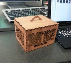 Laser Cut Decorative Wooden Box Template Free Vector