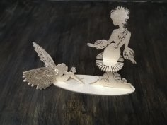 Laser Cut Fairies Napkin Holder DXF File
