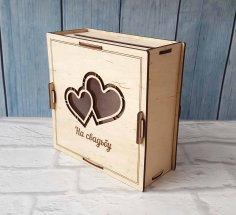 Laser Cut Wedding Card And Money Box Free Vector