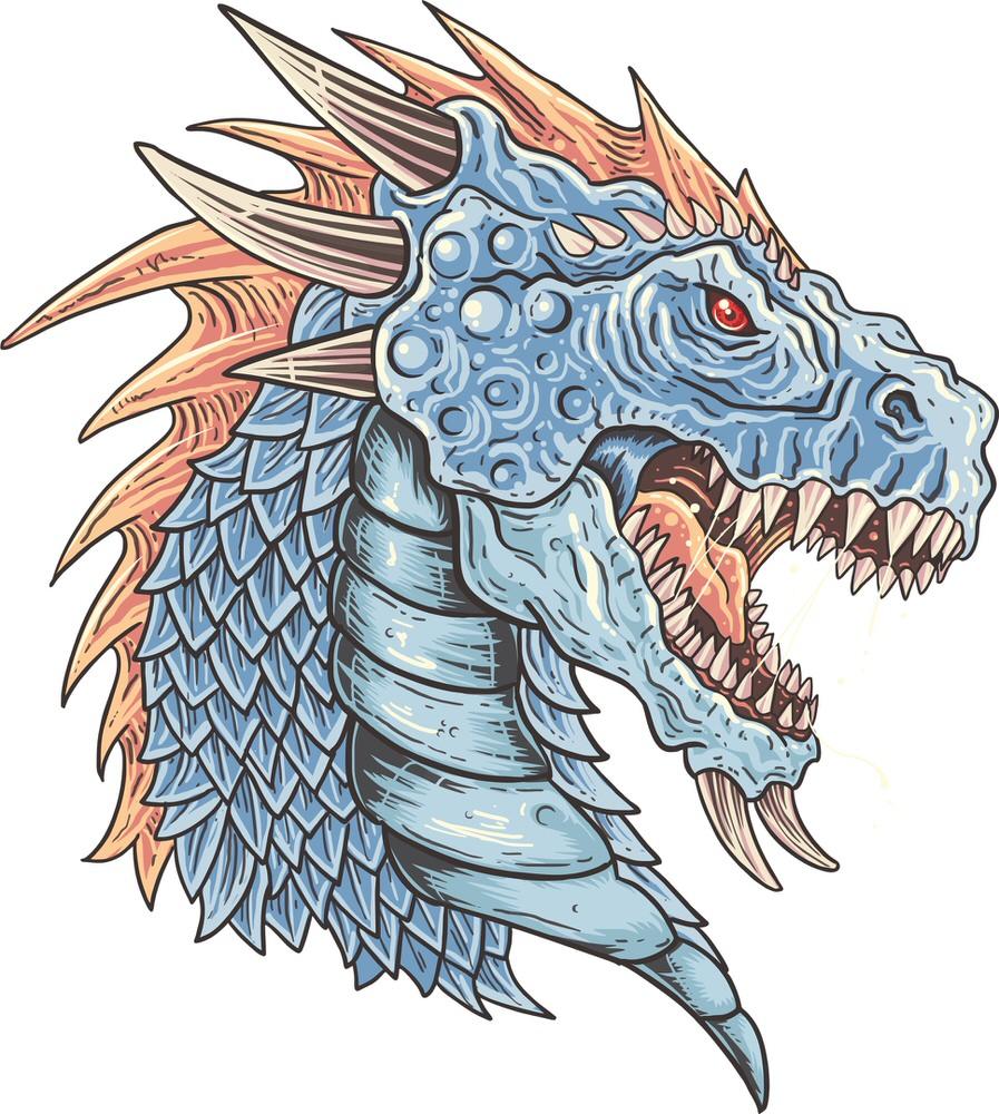 Dragon Art T-shirt Print Free Vector