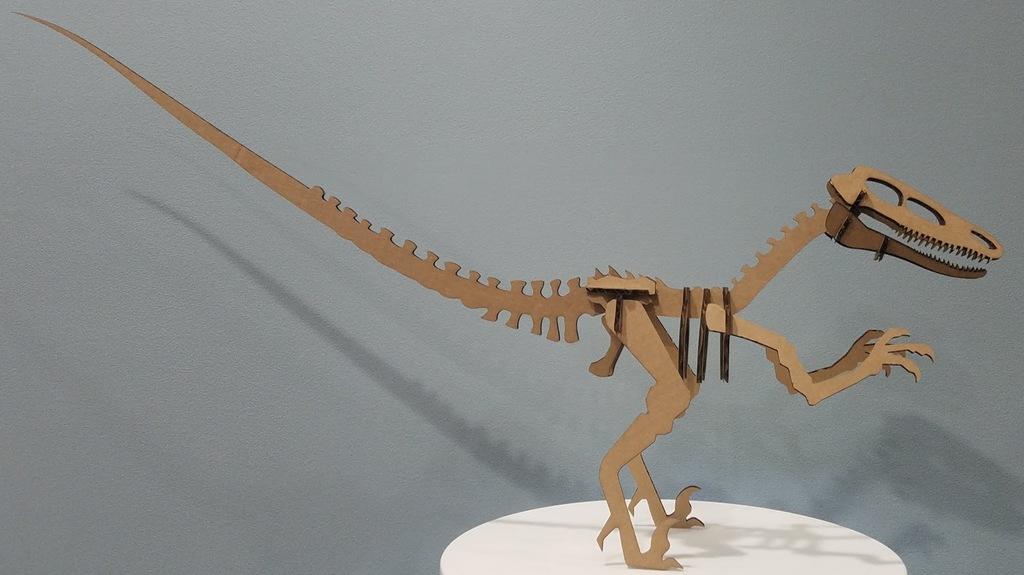 Laser Cut Raptor Dinosaur Velociraptor DXF File