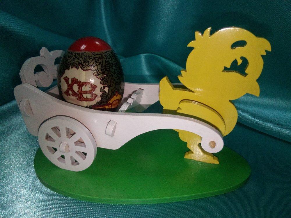 Laser Cut Easter Chicken Egg Holder Template Free Vector