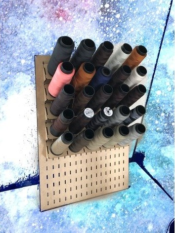 Thread Spool Rack MDF DXF File